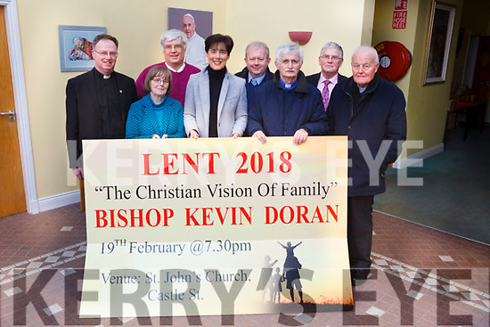 "TALKS: The Tralee Pastoral Area, consisting of the parishes of St John's, Our Lady and St Brendan's and Spa/Churchill, will host a series of Lenten events ""The Christian Vision of Family"" which take place in St John's Church, Castle St., Tralee, on February 19. Pictured front l-r: Fr Pat Crean-Lynch, Celine O'Callaghan, Norma Foley, Fr Niall Geaney, Fr Seamus Linnane. Back l-r were: Denis Kelliher, Fr Tadgh Fitzgerald and Dermot Crowley."