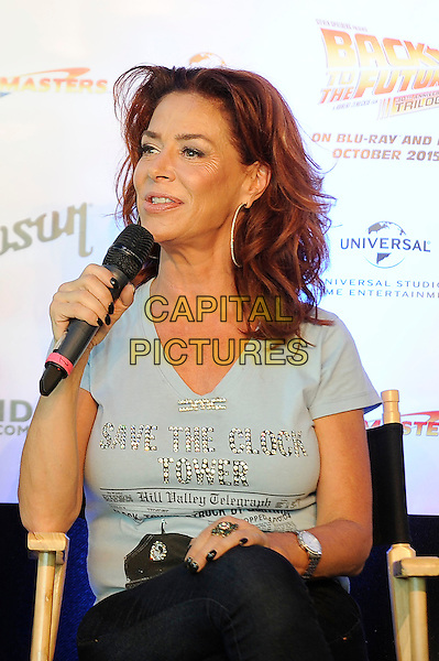 LONDON, ENGLAND - JULY 19: Claudia Wells attending the London Film and Comic Con at Olympia London, on July 19, 2015 in London, England.<br /> CAP/MAR<br /> &copy; Martin Harris/Capital Pictures