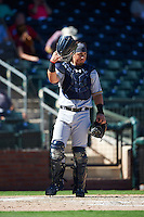 Salt River Rafters Jacob Nottingham (24), of the Milwaukee Brewers organization, during a game against the Surprise Saguaros on October 17, 2016 at Surprise Stadium in Surprise, Arizona.  Surprise defeated Salt River 3-1.  (Mike Janes/Four Seam Images)