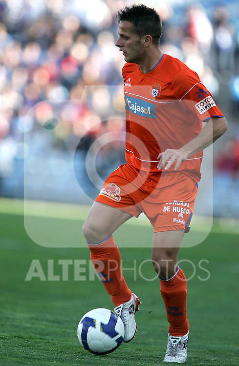 Recreativo de Huelva's Javier Camunas during La Liga match, March 22, 2009. (ALTERPHOTOS/Alvaro Hernandez).