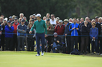 Justin Rose (ENG) on the 2nd green during Round 2 of the Sky Sports British Masters at Walton Heath Golf Club in Tadworth, Surrey, England on Friday 12th Oct 2018.<br /> Picture:  Thos Caffrey | Golffile<br /> <br /> All photo usage must carry mandatory copyright credit (&copy; Golffile | Thos Caffrey)