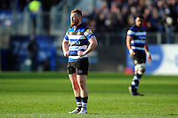 Rory Jennings of Bath Rugby looks on during a break in play. Aviva Premiership match, between Bath Rugby and Harlequins on February 18, 2017 at the Recreation Ground in Bath, England. Photo by: Patrick Khachfe / Onside Images