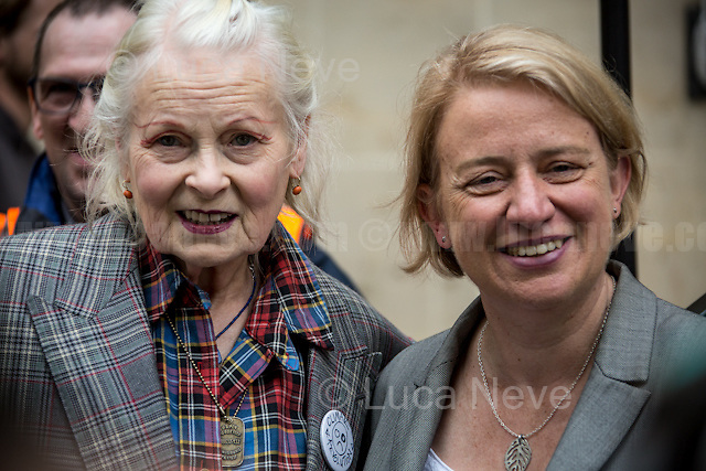 (From L to R) Dame Vivienne Westwood (English fashion designer, businesswoman and activist; largely responsible for bringing modern punk and new wave fashions into the mainstream, DBE, RDI) &amp; Natalie Bennett (British politician, Leader of the Green Party of England and Wales).<br /> <br /> London, 04/06/2016. Today, hundreds of people, including doctors, student nurses, midwives, junior doctors and other healthcare professionals marched from the Saint Thomas Hospital to the Department of Health in Whitehall to protest against the Conservative Government's plan to scrap bursaries for nursing and midwifery students from 2017. The demonstration was organised by the &quot;NHS Bursary Cuts Forum&quot; and supported by trade unions and other organizations fighting against the plan to privatise the NHS (National Health Service).<br />  <br /> For more information please click here: https://www.facebook.com/events/1020899857963987/