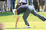 Mark Foster (ENG) sinks his huge putt on the 2nd green during the Final Day Sunday of the Open de Andalucia de Golf at Parador Golf Club Malaga 27th March 2011. (Photo Eoin Clarke/Golffile 2011)