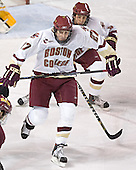 Andrew Orpik (Tim Kunes) - The Boston College Eagles and Ferris State Bulldogs tied at 3 in the opening game of the Denver Cup on Friday, December 30, 2005, at Magness Arena in Denver, Colorado.  Boston College won the shootout to determine which team would advance to the Final.
