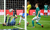 27th March 2018, Olympiastadion, Berlin, Germany; International Football Friendly, Germany versus Brazil; Gabriel Jesus (Brasil) scores his goal for 0-1