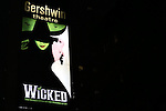 Theatre Marquee for the 10th Anniversary on Broadway Curtain Call for 'Wicked'  at the Gershwin Theatre on October 30, 2013  in New York City.