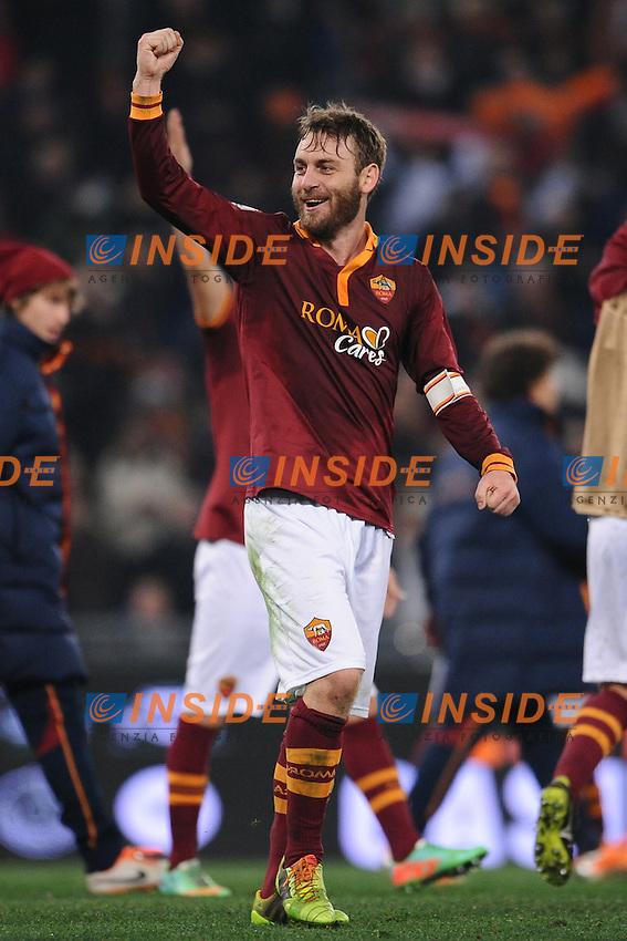 Daniele De Rossi Roma.<br /> Roma 21-01-2014 Stadio Olimpico. Football Calcio 2013/2014 Tim Cup. AS Roma - Juventus. Foto Antonietta Baldassarre / Insidefoto
