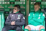 08.03.2019, Weser Stadion, Bremen, GER, 1.FBL, Werder Bremen vs FC Schalke 04, <br /> <br /> DFL REGULATIONS PROHIBIT ANY USE OF PHOTOGRAPHS AS IMAGE SEQUENCES AND/OR QUASI-VIDEO.<br /> <br />  im Bild<br />  auf der Ersatzbank Fin Bartels (Werder Bremen #22)<br /> Felix Beijmo (Werder Bremen #02)<br /> <br /> <br /> Foto &copy; nordphoto / Kokenge