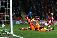 Josh Parker of Charlton toe pokes the ball just wide of the Doncaster goal during Charlton Athletic vs Doncaster Rovers, Sky Bet EFL League 1 Play-Off Football at The Valley on 17th May 2019