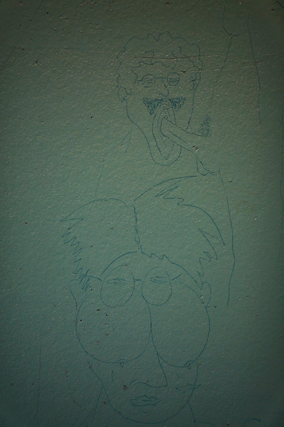 ATTN RUSSEL BOYCE*** PICTURES TO BE PROTECTED BEFORE RUSSEL CLEARS RELEASE***..A drawing is seen inside an unoccupied cell of the Detention Unit of the International Criminal Tribunal for the former Yugoslavia (ICTY) in Hague September 20, 2011. While awaiting or undergoing trial, around 40 people from the former Yugoslavia of different ethnic and religions accused of war crimes spend their time in peace and harmony at the detention unit of ICTY located within a Dutch prison complex in the Scheveningen neighborhood of Hague.  REUTERS/Damir Sagolj (NETHERLANDS)