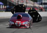 May 5, 2012; Commerce, GA, USA: NHRA pro stock driver Warren Johnson during qualifying for the Southern Nationals at Atlanta Dragway. Mandatory Credit: Mark J. Rebilas-