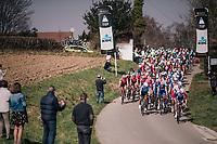 peloton topping the Zwarte Berg / Mont Noir<br /> <br /> 81st Gent-Wevelgem in Flanders Fields (1.UWT)<br /> Deinze &gt; Wevelgem (251km)