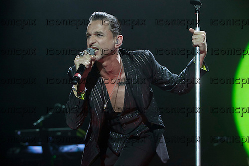 Depeche Mode - vocalist Dave Gahan - performing live on the Delta Machine Tour at the O2 Arena in London UK - 28 May 2013.  Photo credit: John Rahim/Music Pics Ltd/IconicPix
