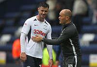 Preston North End's Manager Alex Neil speaks to Preston North End's Andrew Hughes <br /> <br /> Photographer Mick Walker/CameraSport<br /> <br /> The EFL Sky Bet Championship - Preston North End v Wigan Athletic - Saturday 10th August 2019 - Deepdale Stadium - Preston<br /> <br /> World Copyright © 2019 CameraSport. All rights reserved. 43 Linden Ave. Countesthorpe. Leicester. England. LE8 5PG - Tel: +44 (0) 116 277 4147 - admin@camerasport.com - www.camerasport.com