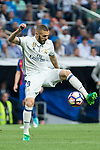 Karim Benzema of Real Madrid during the match of La Liga between Real Madrid and Futbol Club Barcelona at Santiago Bernabeu Stadium  in Madrid, Spain. April 23, 2017. (ALTERPHOTOS)