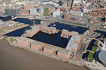 Albert Dock, Liverpool from the Air