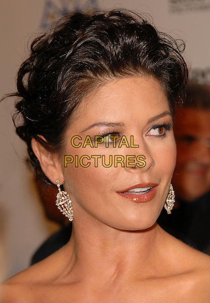 "CATHERINE ZETA JONES .attends The 2nd Annual ""A Fine Romance"" to benefit The Motion Picture & Television Fund held at Sony Picture Studios in Culver City, California, USA, .October 20th 2007..portrait headshot earrings     .CAP/DVS.©Debbie VanStory/Capital Pictures"