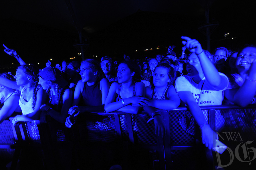 NWA Democrat-Gazette/ANDY SHUPE<br /> Chef Special, Mutemath and TwentyOne Pilots perform Wednesday, Aug. 3, 2016, at the Walmart AMP in Rogers.