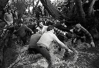 Pix:Michael Steele/SWpix...Ashbourne Shrovetide Football, 1988...COPYRIGHT PICTURE>>SIMON WILKINSON..Ashbourne Shrovetide Football, 1988.