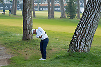 Lee Westwood (ENG) in action on the 1st hole during the third round of the 76 Open D'Italia, Olgiata Golf Club, Rome, Rome, Italy. 12/10/19.<br /> Picture Stefano Di Maria / Golffile.ie<br /> <br /> All photo usage must carry mandatory copyright credit (© Golffile | Stefano Di Maria)