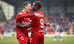 22.09.2019 St Johnstone v Rangers: Jermain Defoe celebrates with Ryan Jack