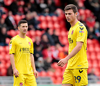 Fleetwood Town's Nathan Sheron in action<br /> <br /> Photographer David Shipman/CameraSport<br /> <br /> The EFL Sky Bet League One - Doncaster Rovers v Fleetwood Town - Saturday 6th October 2018 - Keepmoat Stadium - Doncaster<br /> <br /> World Copyright © 2018 CameraSport. All rights reserved. 43 Linden Ave. Countesthorpe. Leicester. England. LE8 5PG - Tel: +44 (0) 116 277 4147 - admin@camerasport.com - www.camerasport.com