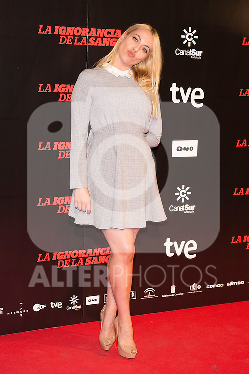 "Daniela Blume attends ""La Ignorancia de la Sangre"" Premiere at Capitol Cinema in Madrid, Spain. November 13, 2014. (ALTERPHOTOS/Carlos Dafonte)"