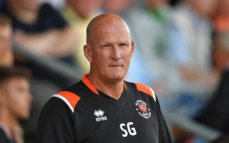 Blackpool's Manager Simon Grayson<br /> <br /> Photographer Dave Howarth/CameraSport<br /> <br /> Football Pre-Season Friendly - AFC Fylde v Blackpool - Tuesday July 16th 2019 - Mill Farm - Fylde<br /> <br /> World Copyright © 2019 CameraSport. All rights reserved. 43 Linden Ave. Countesthorpe. Leicester. England. LE8 5PG - Tel: +44 (0) 116 277 4147 - admin@camerasport.com - www.camerasport.com