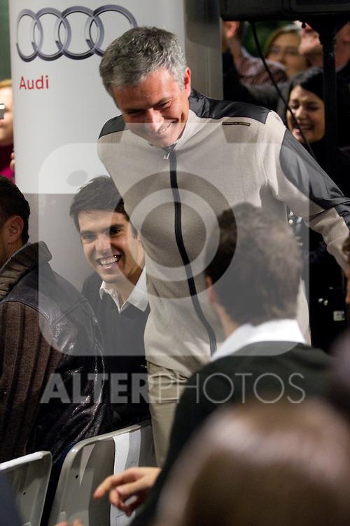 MADRID (08/11/2010).- Real Madrid players recieve new cars from Audi, team Sponsor. Jose Mourinho...Photo: Cesar Cebolla / ALFAQUI