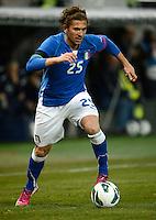 GENEBRA, SUICA, 21 DE MARCO DE 2013 - Alessio Cerci jogador da Italia durante partida amistosa contra o Brasil, disputada em Genebra, na Suíça, nesta quinta-feira, 21. O jogo terminou 2 a 2. FOTO: PIXATHLON / BRAZIL PHOTO PRESS