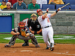 12 April 2008: Washington Nationals' catcher Paul Lo Duca at bat against the Atlanta Braves at Nationals Park, in Washington, DC. The Braves defeated the Nationals 10-2...Mandatory Photo Credit: Ed Wolfstein Photo