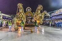 Rio de Janeiro (RJ), 21/02/2020 CARNAVAL - RJ - DESFILE - Desfile das escolas de samba  Academicos do Cubango, da Serie A, nesta sexta-feira (21), no sambodromo, no centro do Rio de Janeiro (RJ). Carro alegorico quebra no meio do desfile. (Foto: Ellan Lustosa/Codigo 19/Codigo 19)
