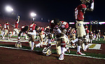 The Seminoles pray in the endzone prior to the BCS national title game at the Rose Bowl in Pasadena, California on January 6, 2014.   The Florida State Seminoles defeated the Auburn Tiger 34-31 to win the final BCS National Championship.