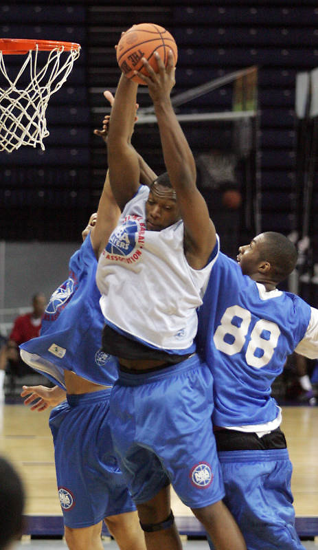 #116 shoots the ball during the NBA Top 100 Camp held Saturday June 23, 2007 at the John Paul Jones arena in Charlottesville, Va. (Photo/Andrew Shurtleff)