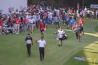 Rafael Cabrera Bello (ESP) waves to the crowd as he approaches the 17th green during round 3 of the World Golf Championships, Mexico, Club De Golf Chapultepec, Mexico City, Mexico. 3/3/2018.<br /> Picture: Golffile | Ken Murray<br /> <br /> <br /> All photo usage must carry mandatory copyright credit (&copy; Golffile | Ken Murray)