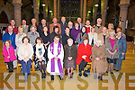 REMEMBERING: Past members of the Rose of Tralee Festival who attended mass in St John's Church Tralee on Saturday evening to pray for the deceased past members and past members whoo are sick, Front l-r: Sheila Looney, Ann Maguire, Fr Sean Hanafin (Celebrant), Margaret Dwyer, Rose Roche and Therese Hassett. 2nd row l-r@: Isobel and Con O'Connor, Eileen Kenny-Stack, Breda Walsh, Joan Mulcaire, Eileen McQuinn, Ann Boyle, Nanette Moore, Ina Keane,Dick Sullivan, Noreen Quirke and June Carey. Back l-r: Aidan Lucid, Mossie Roche, Ned O'Shea, Bill Looney, Joe McElligott, Tony Ennis, Sean and Geraldine Dwyer, Tom Quirke, Bernard Keane, Ryle Dwyer, Mary Gaynor and Eleanor carrick.......... ..........