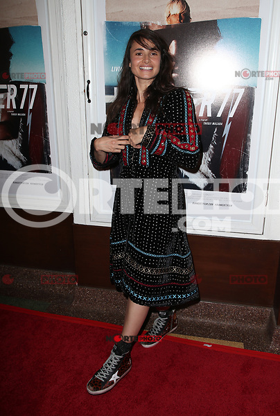 SANTA MONICA, CA - NOVEMBER 1: Mia Maestro, at the Los Angeles Premiere of documentary Bunker77 at the Aero Theater in Santa Monica, California on November 1, 2017. Credit: Faye Sadou/MediaPunch /NortePhoto.com