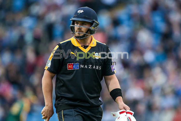 Picture by Alex Whitehead/SWpix.com - 19/06/2015 - Cricket - NatWest T20 Blast - Yorkshire Vikings v Nottinghamshire Outlaws - Headingley Cricket Ground, Leeds, England - Yorkshire's Aaron Finch.
