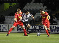 John McGinn crosses in the St Mirren v Dunfermline Athletic Clydesdale Bank Scottish Premier League U20 match played at St Mirren Park, Paisley on 2.10.12.