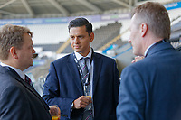 Pictured: Jonathan Shefford (C) of Peter Lynn. Thursday 27 September 2018<br /> Re: Swansea City AFC Business Networking event at the Liberty Stadium, Wales, UK.