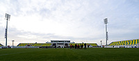 20180228 - LARNACA , CYPRUS :  illustration picture shows the stadium before  a women's soccer game between Spain and the Belgian Red Flames , on friday 2 March 2018 at the AEK Arena in Larnaca , Cyprus . This is the second  game in group B for  Belgium during the Cyprus Womens Cup , a prestigious women soccer tournament as a preparation on the World Cup 2019 qualification duels. PHOTO SPORTPIX.BE   DAVID CATRY