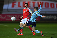 \fl\ battles with Accrington Stanley's Joe Pritchard<br /> <br /> Photographer Dave Howarth/CameraSport<br /> <br /> Leasing.com Trophy Northern Section Round Three - Fleetwood Town v Accrington Stanley - Tuesday 7th January 2020 - Highbury Stadium - Fleetwood<br />  <br /> World Copyright © 2018 CameraSport. All rights reserved. 43 Linden Ave. Countesthorpe. Leicester. England. LE8 5PG - Tel: +44 (0) 116 277 4147 - admin@camerasport.com - www.camerasport.com