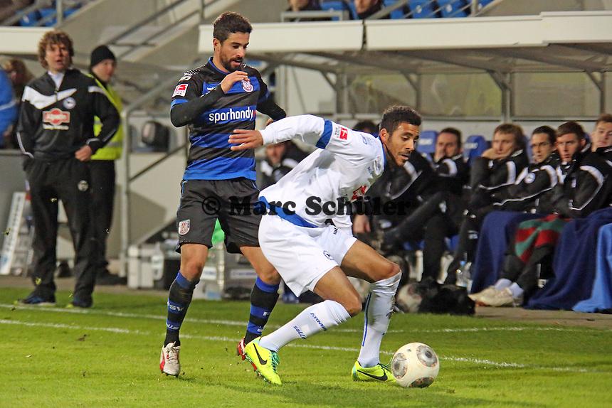 Nils Teixeira (FSV) gegen Marcel Appiah (Bielefeld) - FSV Frankfurt vs. Arminia Bielefeld, Frankfurter Volksbank Stadion