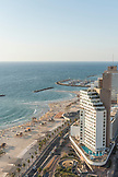 ISRAEL, Tel Aviv, a view of Tel Aviv's North Beaches and Marina from above