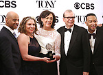 The 'Jitney' team poses at the 71st Annual Tony Awards, in the press room at Radio City Music Hall on June 11, 2017 in New York City.