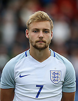 Harry Chapman (Sheffield United, on loan from Middlesbrough) of England during the International match between England U20 and Brazil U20 at the Aggborough Stadium, Kidderminster, England on 4 September 2016. Photo by Andy Rowland / PRiME Media Images.