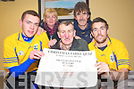 Pictured at the launch of the Beaufort GAA quiz night on Wednesday night, which will be held in the Inn Between Bar, Beaufort on Sunday 1st January were Ronan Murphy, Ian Joy, club chairman, Jason Foley, Eileen O'Hagan and Maurice Foley.