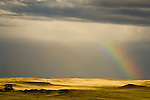 Rainbow at the end of the storm, Thunder Basin National Grassland, Wyoming