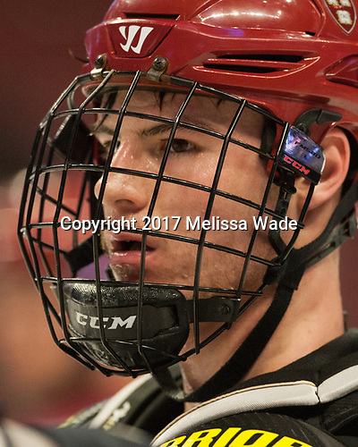Tyler Moy (Harvard - 2) - The Harvard University Crimson practiced at the United Center on Wednesday, April 5, 2017, in Chicago, Illinois.